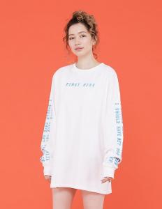 MET EARLIER LONG TEE(White)