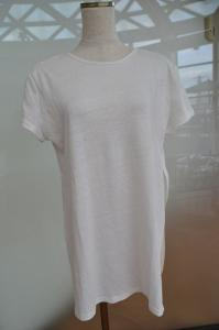 """Take Two""Side Split Plain Jersey Tee"