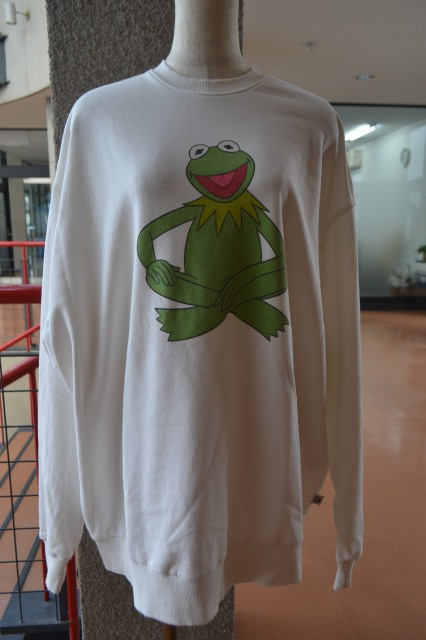 BIG SWEATER / THE MUPPETS ( KERMIT )(white)
