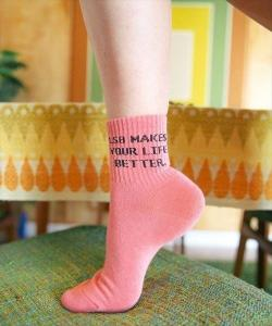 Message socks(pink)