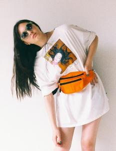 POLAROID PHOTO BIG TEE(White×Black)