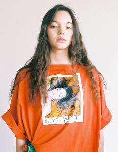 POLAROID PHOTO BIG TEE(Orange×Brown)