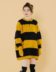 RUGBY KNIT DRESS(Yellow)