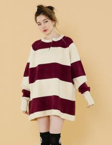 RUGBY KNIT DRESS(Beige)