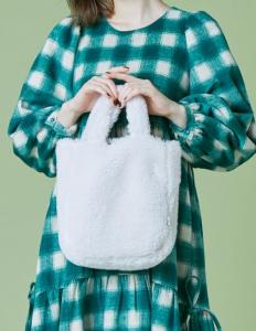 Fur mini bag(white)