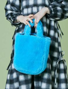 Fur mini bag(blue)
